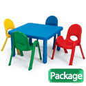 Click here for more MyValue Set 4 Preschool Table & Chair Set by Angeles by Worthington