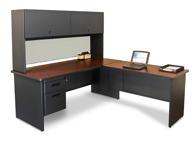 big sale d6389 a4f73 Pronto L Shaped Desk w/ 1 File Drawer