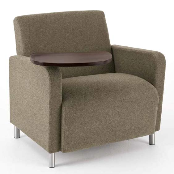 Lesro Ravenna Series Oversized Guest Chair W Tablet Standard Fabric Q1631g8 Reception Waiting Room Worthington Direct