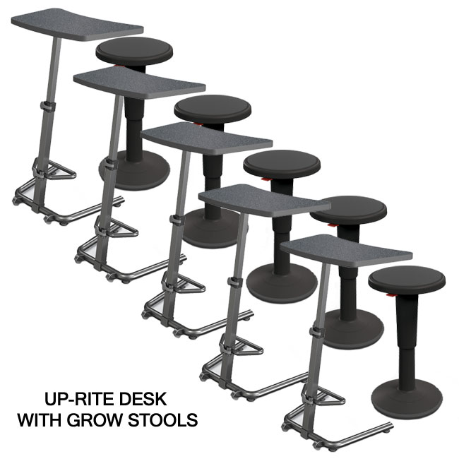 Amazing Mooreco Up Rite Desk And Grow Stool Package Qu000281 Pdpeps Interior Chair Design Pdpepsorg