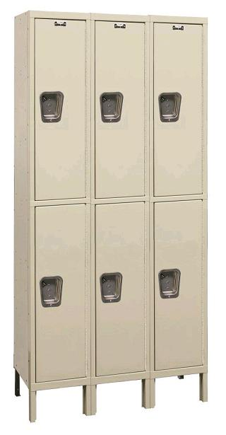 maintenance-free-quiet-double-tier-3-wide-lockers-by-hallowell