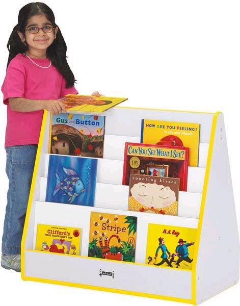 3509jcww-rainbow-accents-pick-a-book-stand-1-sided-w-casters
