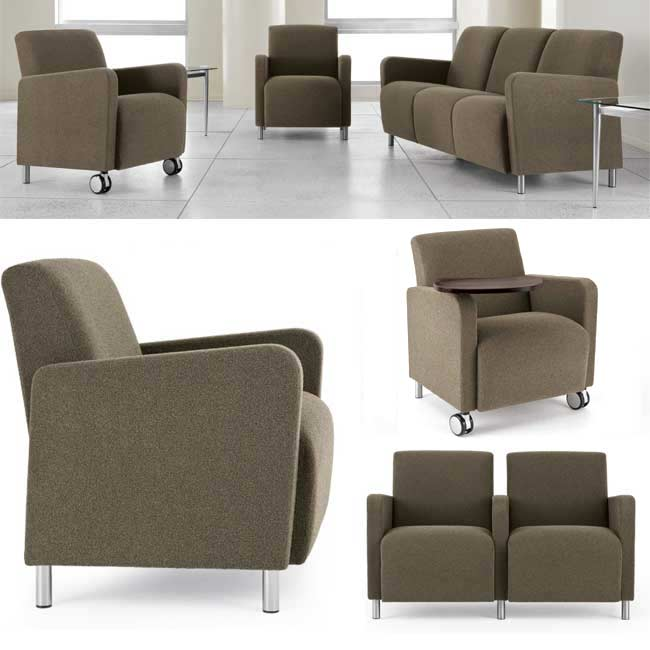 Lesro Ravenna Series Oversized Guest Chair Designer Fabric Q1601g8 Reception Waiting Room Worthington Direct