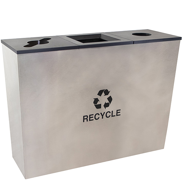 rc-mtr-3ss-metro-collection-three-stream-receptacle-stainless-steel