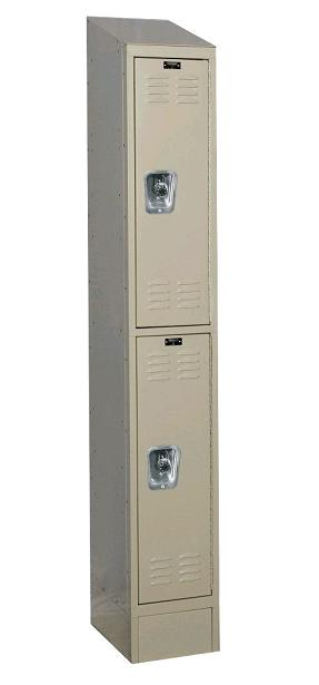 readybuilt2-double-tier-1-wide-lockers-w-slope-top---locks-by-hallowell