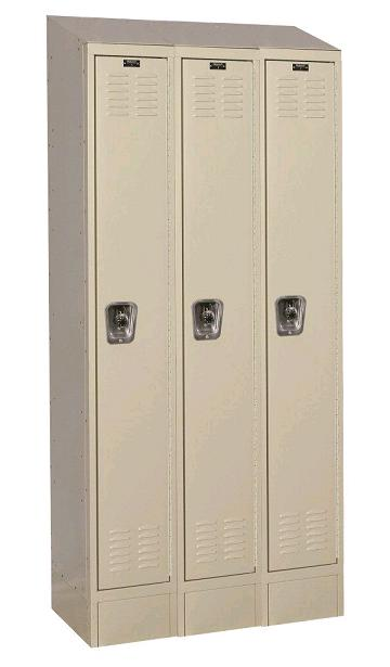 urb3288-1asb-readybuilt2-single-tier-3-wide-lockers-w-slope-top---locks--12-w-x-18-d-x-72-h