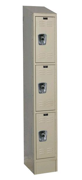 urb1228-3asb-readybuilt2-triple-tier-1-wide-lockers-w-slope-top---locks--12-w-x-12-d-x-24-h