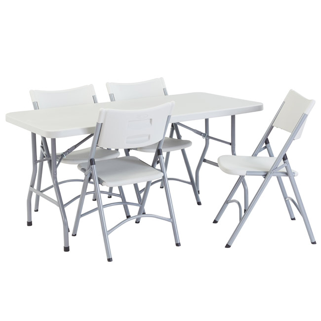 National Plastic Folding Table Chair Set 30 X 60 Rectangle Folding Table With 4 Folding Chairs Bt3060 1 602 4 Packaged Tables And Chairs Worthington Direct