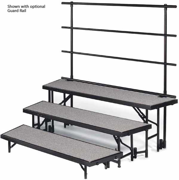 rtrp4c-78lx69dx32h-4-level-tapered-choral-riser-pewter-gray-carpet-surface-wblack-metal