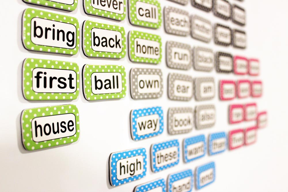 Die-Cut Magnetic Sight Words from Ashley Productions