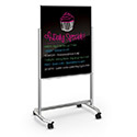 Click here for more Visionary Move Mobile Black Glass Whiteboard by Best-Rite by Worthington