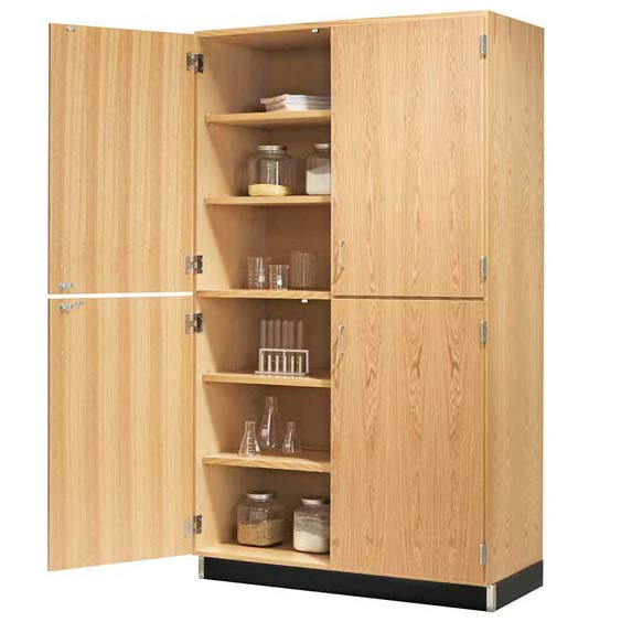 356-4822-split-level-storage-cabinet-with-veneer-doors-48-w