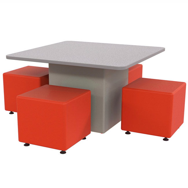 Marco Group Sonik Square Table And Square Ottoman Package
