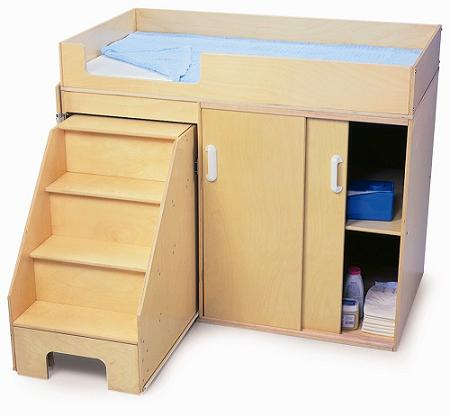 Whitney Brothers Step Up Toddler Changing Table Wb0648 Changing Tables Worthington Direct
