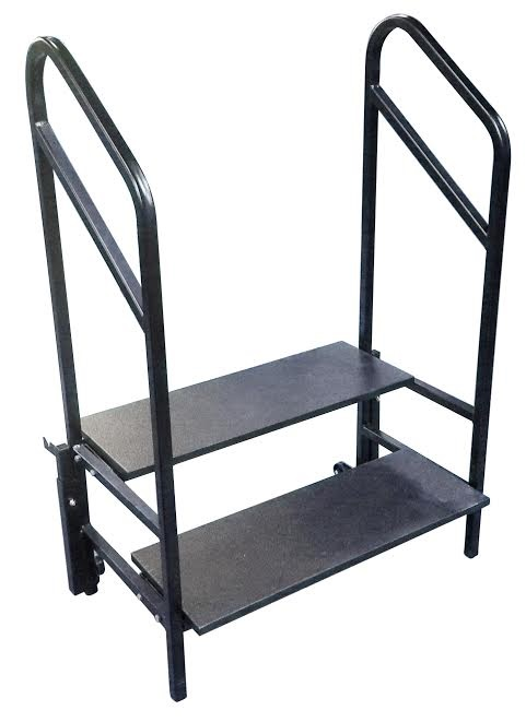 Portable Stage Steps With Handrails : Amtab stp portable step for stages