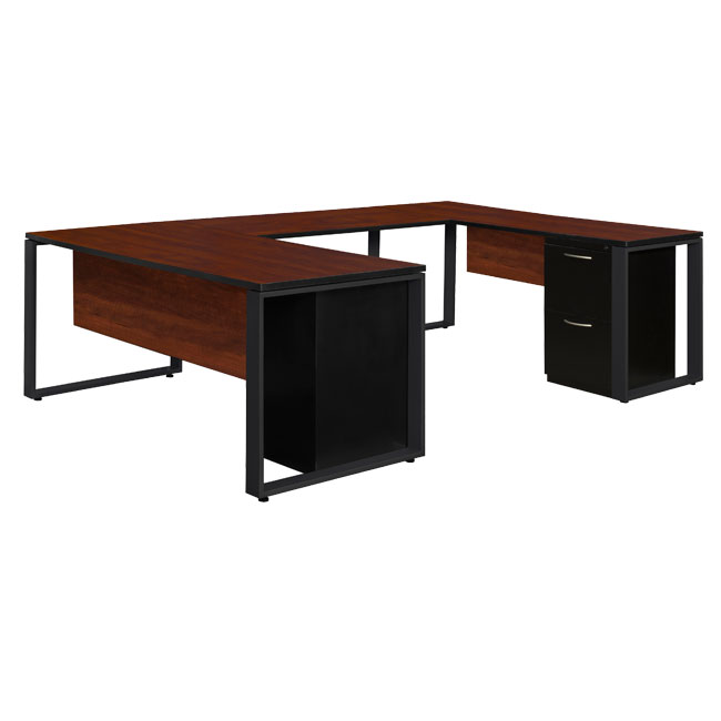 studmp663048-structure-double-metal-pedestal-u-desk-with-48-bridge-66-w-x-30-d