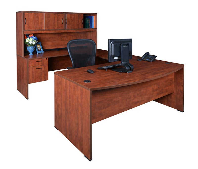 Regency Sudbfh713542 Double Pedestal U Shape Desk W Hutch