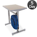 Silhouette School Desk by Smith System
