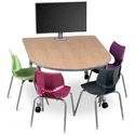 Click here for more Interchange Medium Round End Multimedia Table by Smith System by Worthington
