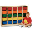 E-Z Glide 25 Tray Mobile Cubbie Rack by Jonti-Craft