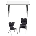 Click here for more Dry Erase Rectangle Activity Table & Chair Packages by FDP by Worthington