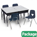 Click here for more 2200 Series Open Front Desk & 120 Series Chair Packages by Scholar Craft by Worthington