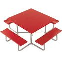 Square All Aluminum Tables by Southern Aluminum