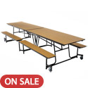 Mobile Bench School Cafeteria Table by Amtab