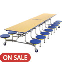 Mobile Stool Cafeteria Table by Amtab
