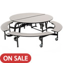 Click here for more Mobile Round Cafeteria Tables with Bench by AmTab by Worthington