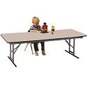 Rectangular Adjustable Height School Folding Tables by Allied