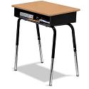 Open Front Desk w/ Metal Bookbox by American Desk