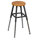 Adjustable Height School Lab Stool by Balt
