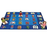 Reading by the Book Seating Rug by Carpets for Kids