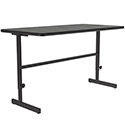 Pedestal Base Computer Tables w/ Adjustable Height by Correll