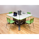 Acrobat I~O Post Trapezoid Desk by Smith System