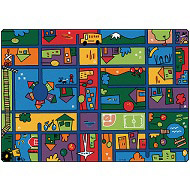 Funky Town Road Rug by Carpets for Kids