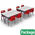 Click here for more 2200 Series Open Front Desk & Ovation Chair Packages by Scholar Craft by Worthington