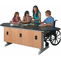 ADA Lab Workstation with EZ-Lift Height Adjustment by Diversified Woodcrafts