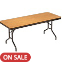 Rectangular Plywood Core Folding Tables by Amtab