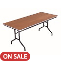 Rectangular Stained Plywood Top Folding Tables by Amtab