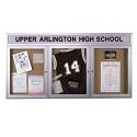 Aluminum Frame Bulletin Board w/Header for Indoor Use by Ghent