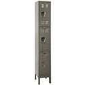 Premium Triple-Tier 1-Wide Lockers by Hallowell