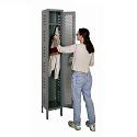 Heavy-Duty Ventilated Single-Tier 1-Wide Lockers by Hallowell