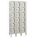 Heavy-Duty Ventilated Six-Tier 3-Wide Lockers by Hallowell