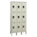 Rust Resistant Galvanite Triple-Tier 3-Wide Lockers by Hallowell