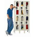 Click here for more Safety View Double-Tier 3-Wide Lockers by Hallowell by Worthington