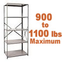 Extra Heavy-Duty Open Shelving w/ 5 Shelves by Hallowell