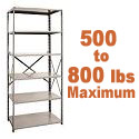 Heavy-Duty Open Shelving w/ 6 Shelves by Hallowell