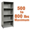 Heavy-Duty Closed Shelving w/ 5 Shelves by Hallowell